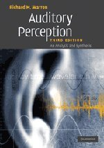 9780521688895: Auditory Perception: An Analysis and Synthesis