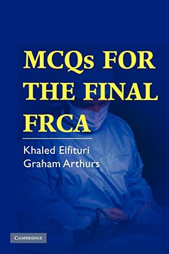 Mcqs for the Final Frca: Elfituri, Khaled