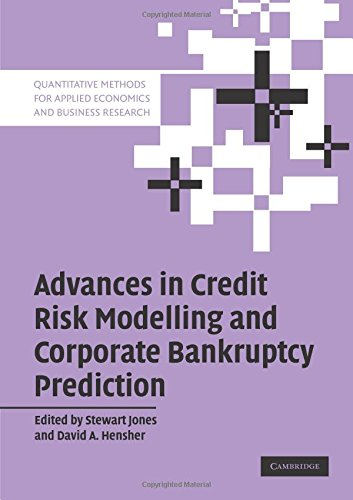 9780521689540: Advances in Credit Risk Modelling and Corporate Bankruptcy Prediction (Quantitative Methods for Applied Economics and Business Research)