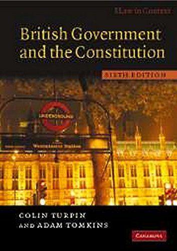 9780521690294: British Government and the Constitution: Text and Materials (Law in Context)