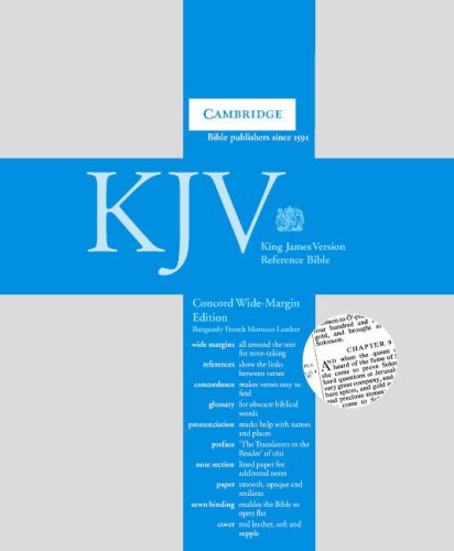 9780521690911: KJV Concord Wide Margin Reference Edition burgundy French Morocco KJ263WM
