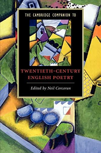 9780521691321: The Cambridge Companion to Twentieth-Century English Poetry (Cambridge Companions to Literature)