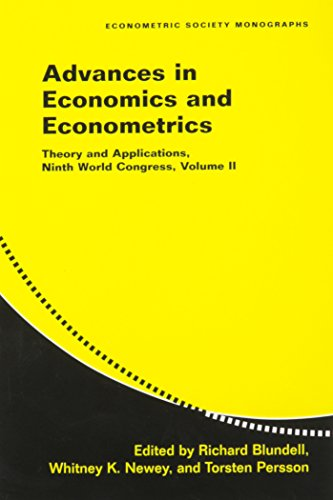 Advances in Economics and Econometrics: Theory and Applications, Ninth World Congress (Paperback): ...