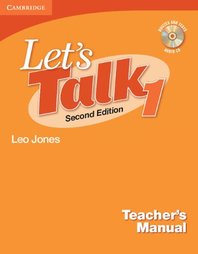 9780521692823: Let's Talk 2nd  1 Teacher's Manual with Audio CD (Let's Talk (Cambridge Teacher's Manuals))