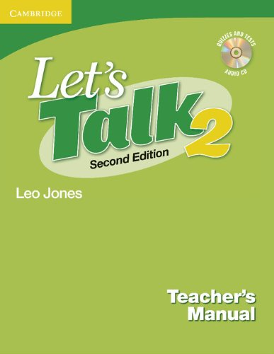 9780521692854: Let's Talk Level 2 Teacher's Manual 2 with Audio CD