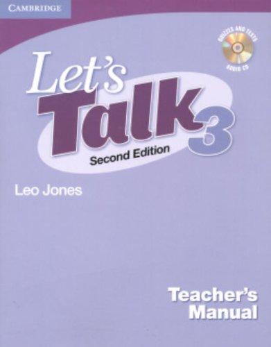 9780521692885: Let's Talk Level 3 Teacher's Manual with Audio CD