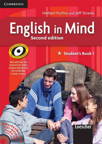 9780521695671: English in Mind 1 Student's Book and Workbook with MultiROM and Companion Book Italian Edition