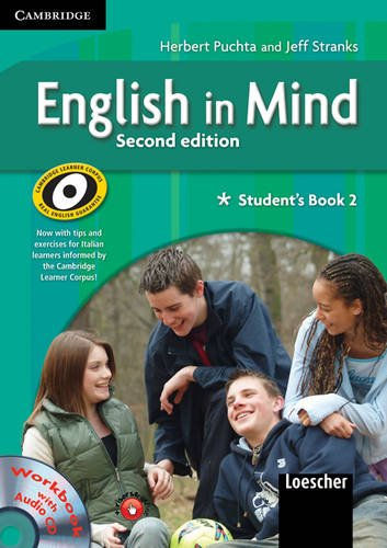 9780521695817: English in Mind Level 2 Student's Book and Workbook with Audio CD and Companion Book Italian Edition