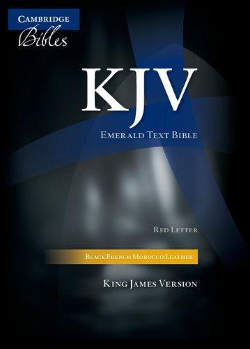 9780521696098: KJV Emerald Text Edition Black French Morocco Leather KJ533:TR