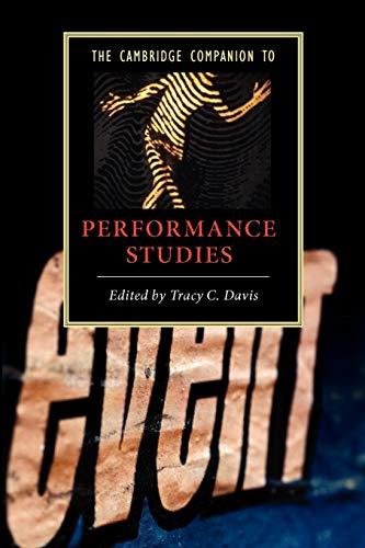 9780521696265: The Cambridge Companion to Performance Studies (Cambridge Companions to Literature)