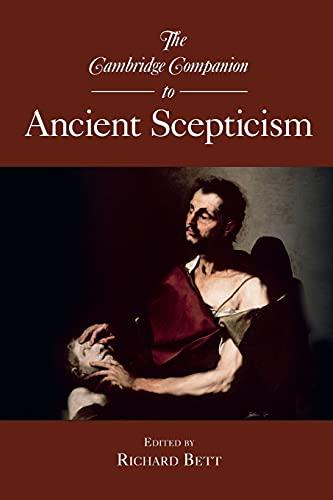 9780521697545: The Cambridge Companion to Ancient Scepticism Paperback (Cambridge Companions to Philosophy)