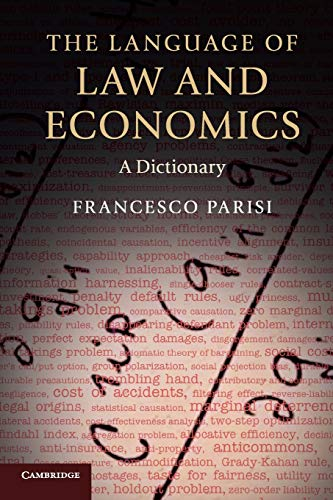9780521697712: The Language of Law and Economics: A Dictionary
