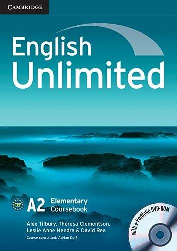 9780521697729: English Unlimited Elementary Coursebook with e-Portfolio