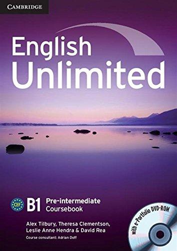 9780521697774: English Unlimited Pre-intermediate Coursebook with e-Portfolio