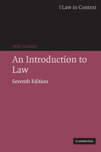 9780521697965: An Introduction to Law (Law in Context)
