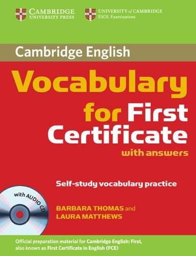 9780521697996: Cambridge Vocabulary for First Certificate Student Book with Answers and Audio CD