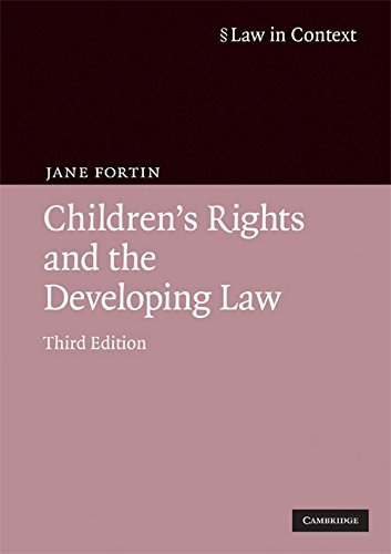 9780521698016: Children's Rights and the Developing Law (Law in Context)