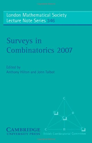 9780521698238: Surveys in Combinatorics 2007 (London Mathematical Society Lecture Note Series)