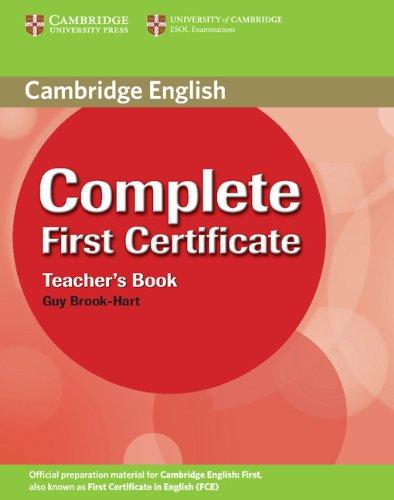 9780521698283: Complete First Certificate Teacher's Book