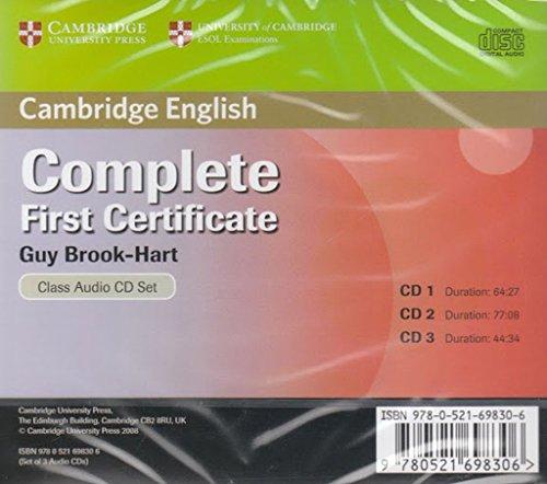 9780521698306: Complete First Certificate Class Audio CD Set