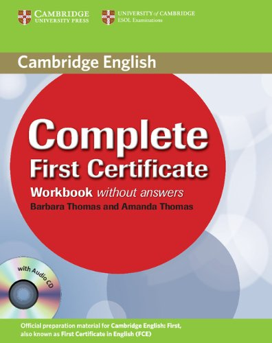 9780521698313: Complete First Certificate Workbook with Audio CD