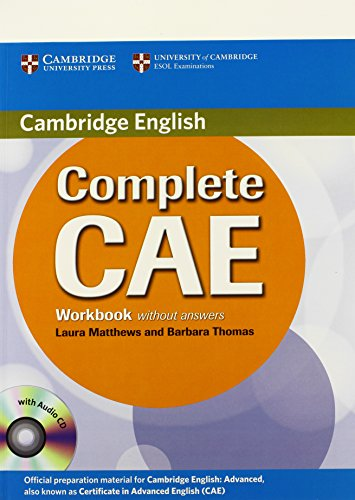 9780521698481: Complete CAE Workbook without Answers with Audio CD