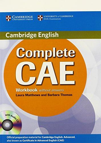 9780521698481: Complete CAE. Workbook without answers. Con CD Audio. Per le Scuole superiori