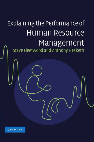 9780521699358: Explaining the Performance of Human Resource Management