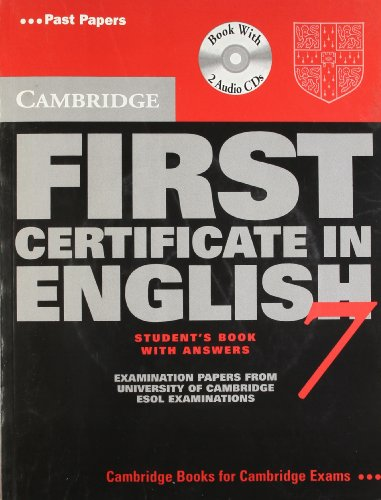 9780521700504: CAMBRIDGE FIRST CERTIFICATE IN ENGLISH 7 (WITH CD)STUDENT BOOK WITH ANSWERS