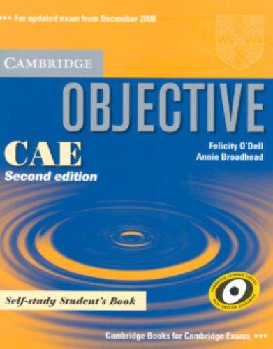 9780521700573: Objective CAE. Self-study student's book. Per le Scuole superiori