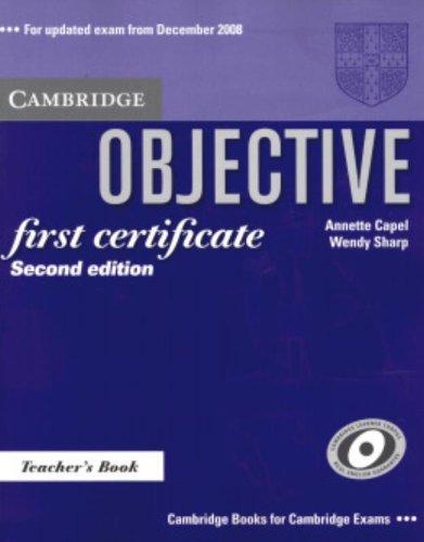 9780521700658: Objective First Certificate Teacher's Book