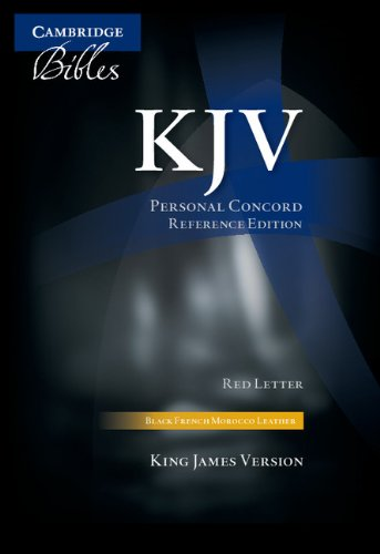 9780521702522: KJV Personal Concord Reference Bible, Black French Morocco Leather, Red-letter Text, KJ463:XR