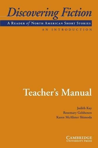 9780521703918: Discovering Fiction, An Introduction Teacher's Manual: A Reader of American Short Stories