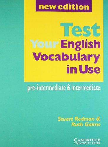 9780521704144: Test your English Vocabulary in Use Pre-Intermediate & Intermediate