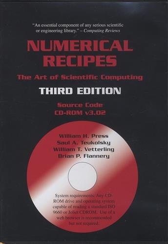 9780521706858: Numerical Recipes Source Code CD-ROM 3rd Edition: The Art of Scientific Computing