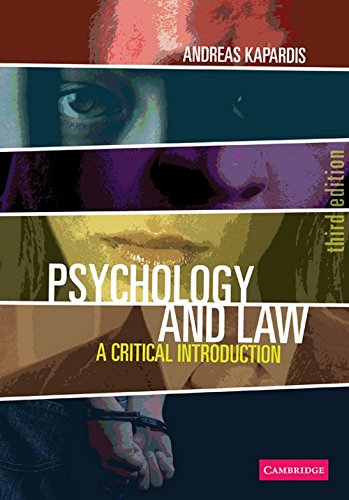 9780521707732: Psychology and Law: A Critical Introduction