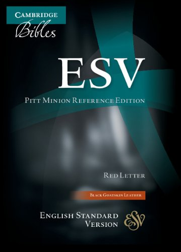 ESV Pitt Minion Reference Edition ES446:XR Black Goatskin Leather