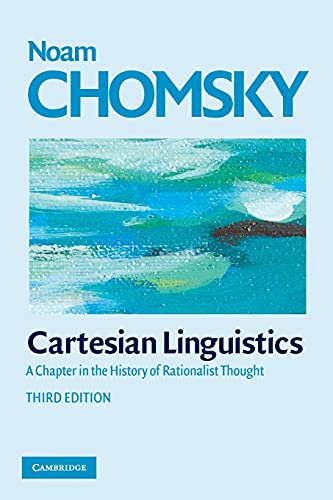 9780521708173: Cartesian Linguistics: A Chapter in the History of Rationalist Thought