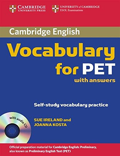 9780521708210: Cambridge Vocabulary for PET with Answers and Audio CD (Cambridge Exams Publishing)