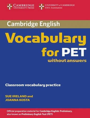 9780521708227: Cambridge vocabulary for Pet. Without answers. Per le Scuole superiori