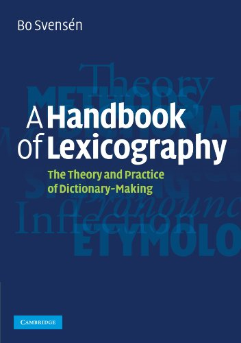 9780521708241: A Handbook of Lexicography: The Theory and Practice of Dictionary-Making