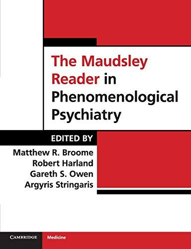9780521709279: The Maudsley Reader in Phenomenological Psychiatry Paperback