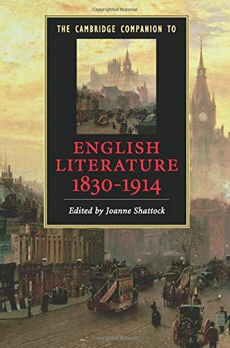 9780521709323: The Cambridge Companion to English Literature, 1830-1914