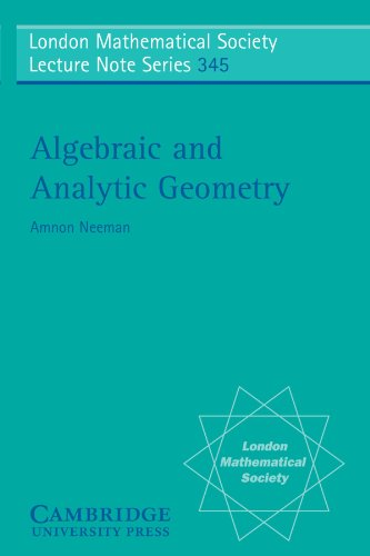 9780521709835: Algebraic and Analytic Geometry (London Mathematical Society Lecture Note Series)