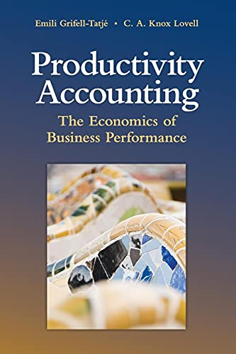 9780521709873: Productivity Accounting: The Economics of Business Performance