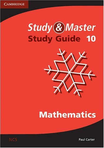 Study and Master Mathematics Grade 10 Study Guide (052171060X) by Paul Carter