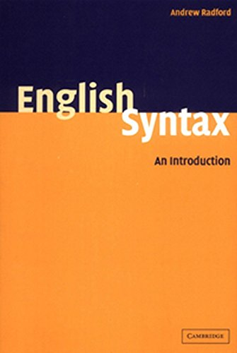 English Syntax: An Introduction: Andrew Radford