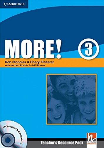 9780521713108: More!  3 Teacher's Resource Pack with Testbuilder CD-ROM/Audio CD: Level 3