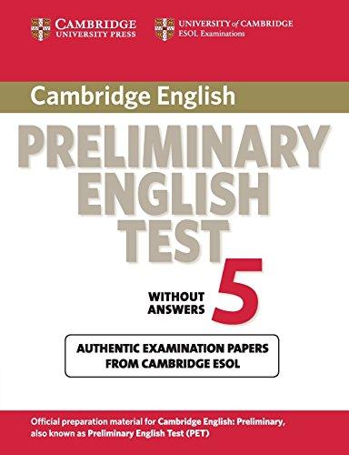 Cambridge Preliminary English Test 5 Student s: Cambridge ESOL