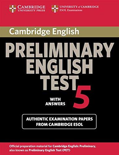 9780521714389: Cambridge preliminary english test. Student's book. With answers. Per le Scuole superiori: Cambridge Preliminary English Test 5 Student's Book with answers (PET Practice Tests)